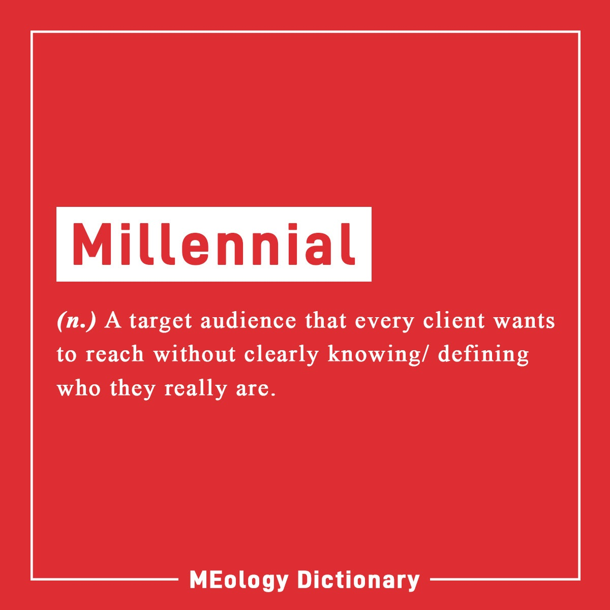 Who is a Millennial really?